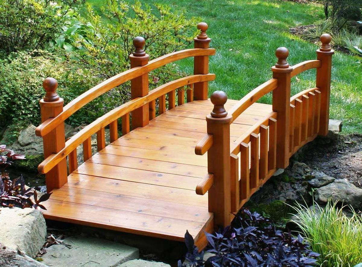дачный мостик сухой ручей мостик в сад