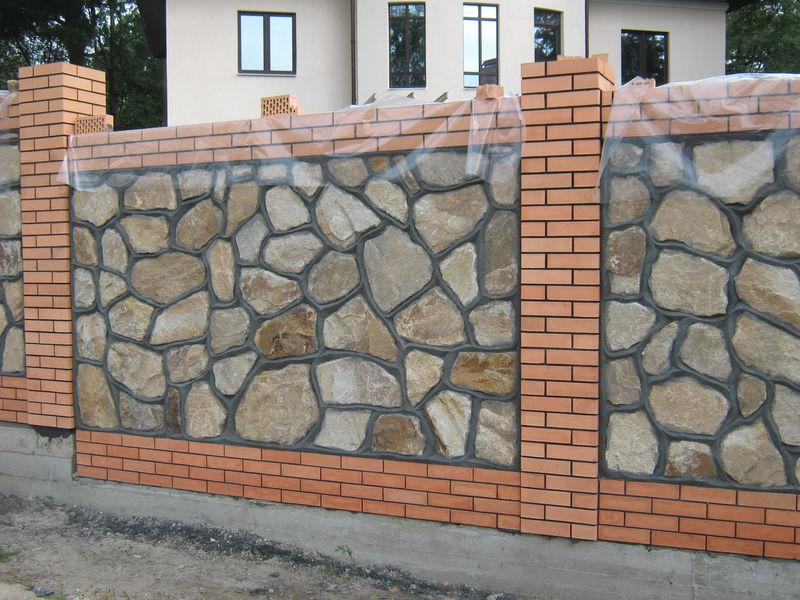 красивый забор из бутового камня своими руками