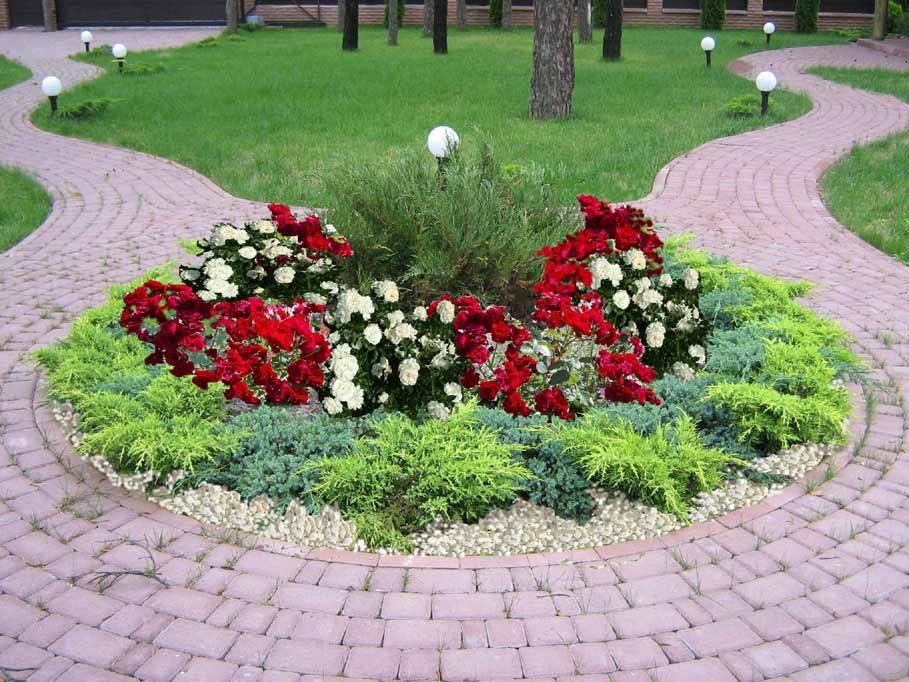 садовая дорожка цветник своими руками