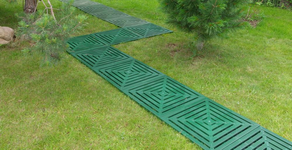 садовая дорожка из пластика