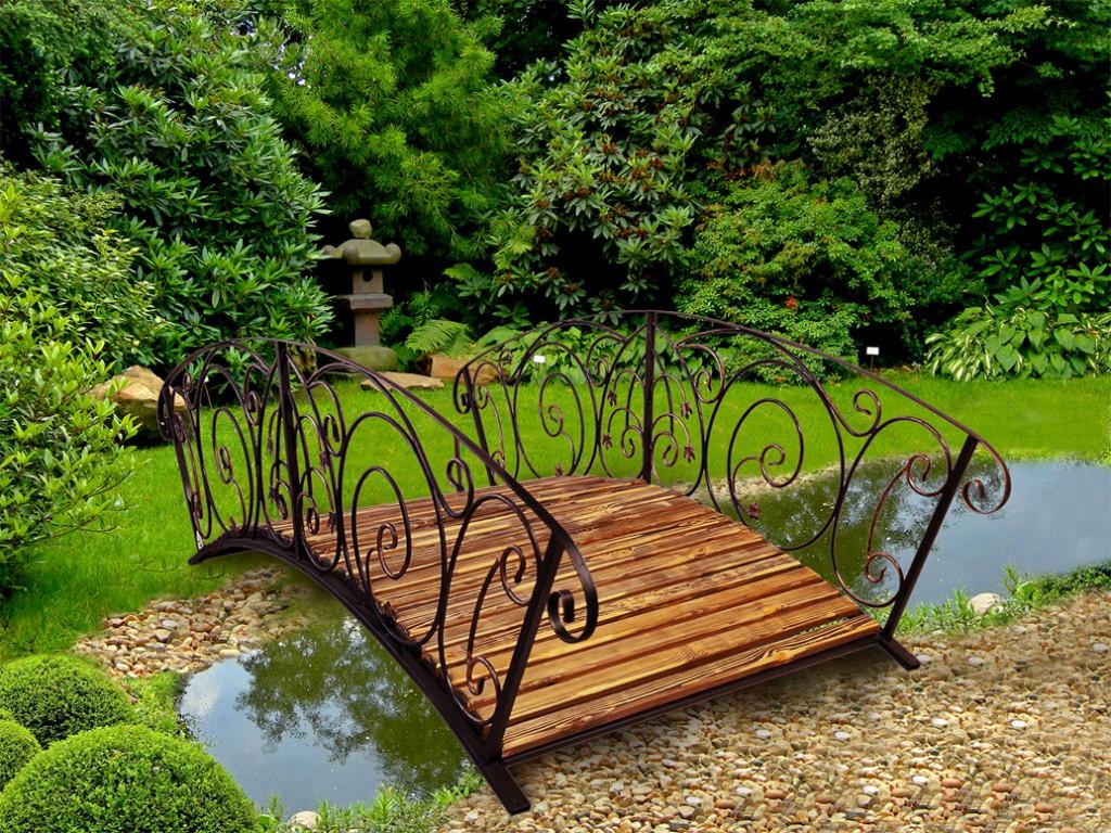 декоративный садовый мостик купить недорого