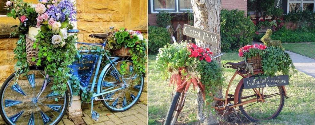 декоративные подставки для цветов велосипеды с цветами своими руками
