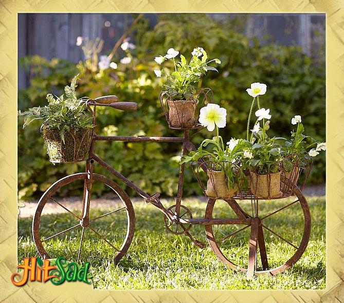 декоративный кованый велосипед подставка для цветов