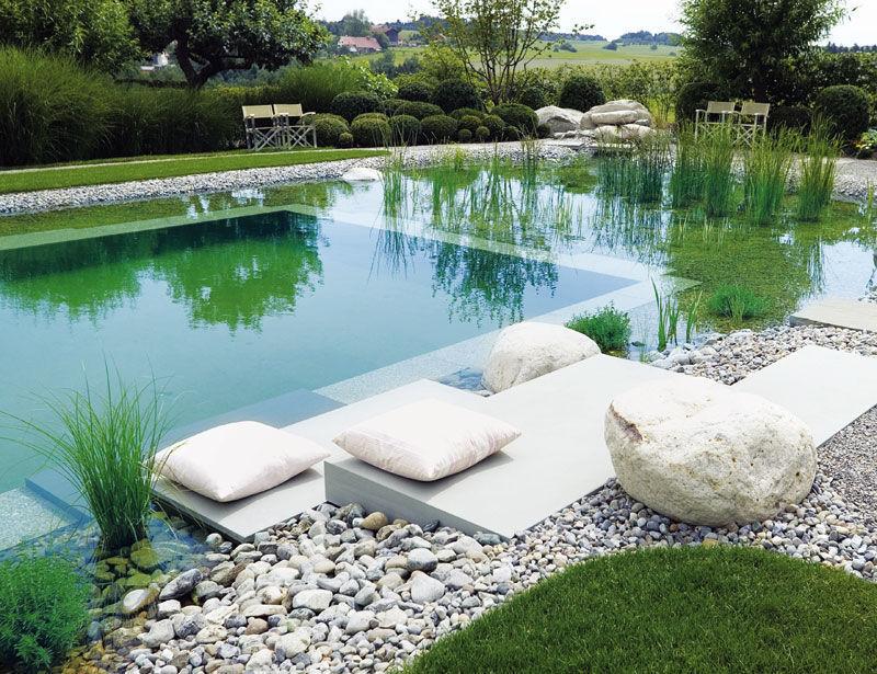 ландшафтный бассейн на участке