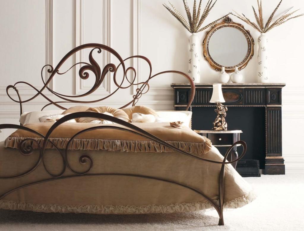 кованая мебель кровать