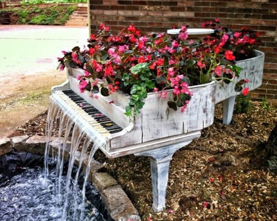 необычные подставки для цветов своими руками в сад