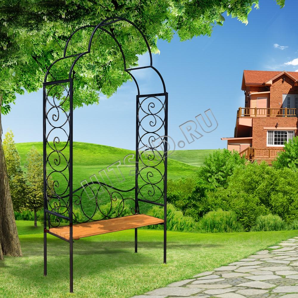 арка со скамейкой садовая купить недорого интернет-магазин