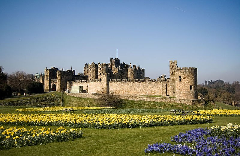 Alnwick Castle красивый сад фото