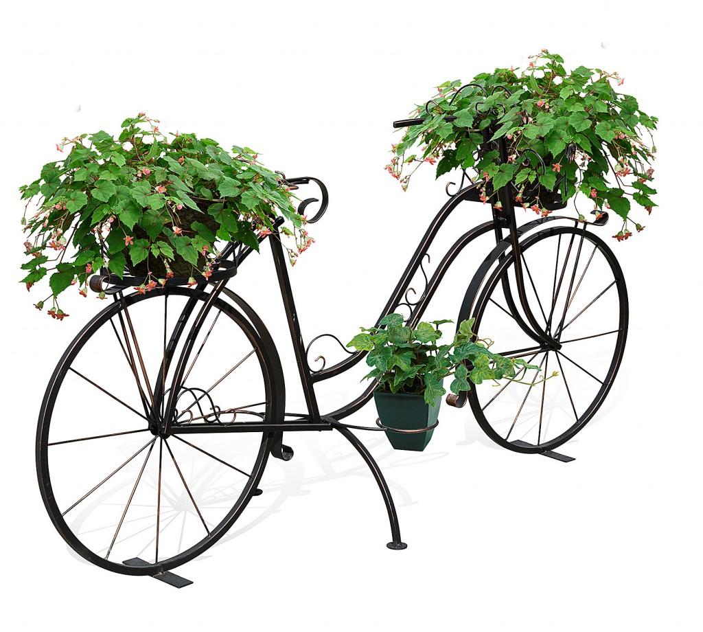 декоративный кованый велосипед для цветов