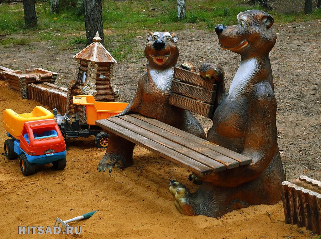 скамейка из пластика садовая для детской площадки