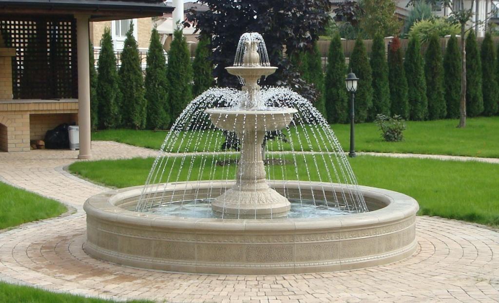 как выбрать садовый фонтан для сада декоративный фонтан колокол