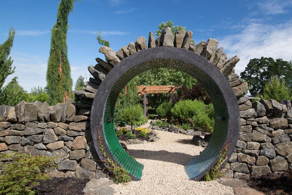 кирпичная каменная арка для сада своими руками в восточном стиле