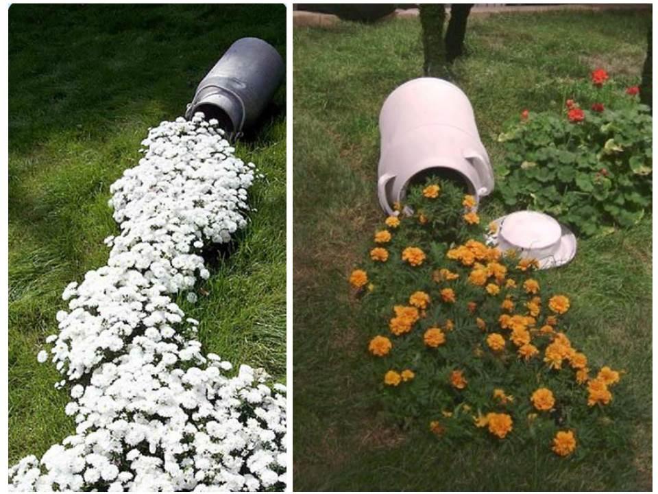 ручей из цветов на участке в саду своими руками декор