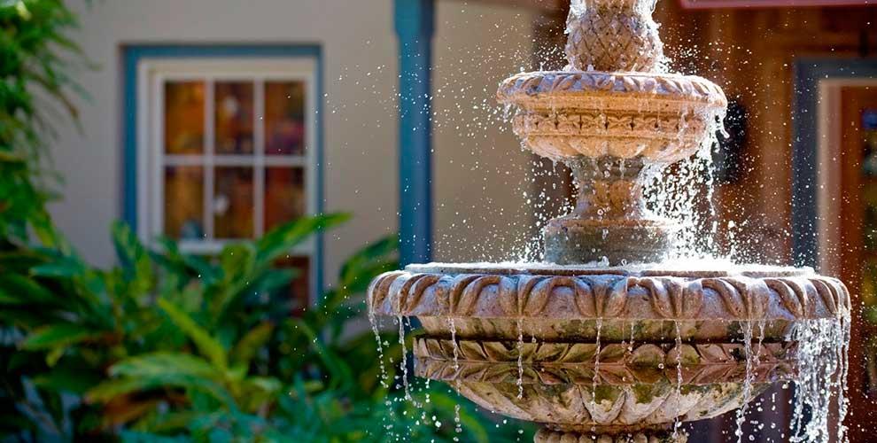 как выбрать садовый фонтан для сада