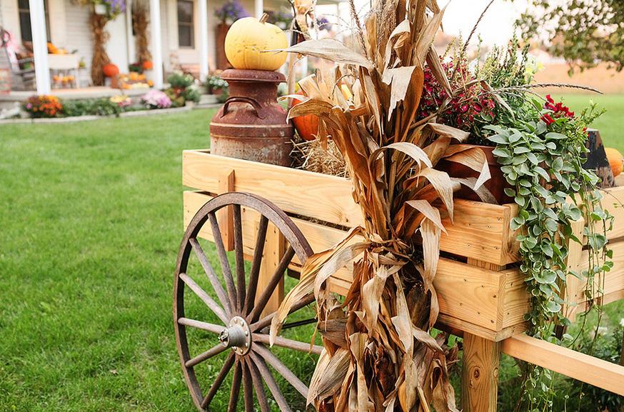 садовая тележка тележка для цветов декор