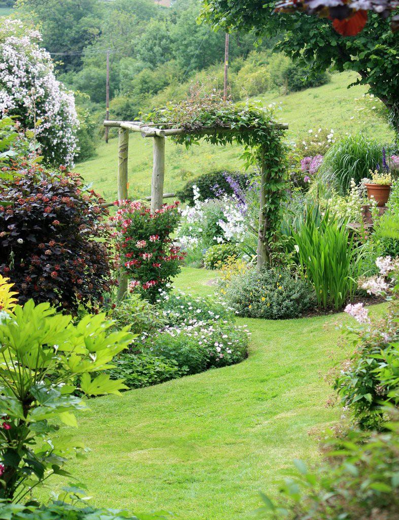 ascot garden красивый арка увитая цветами