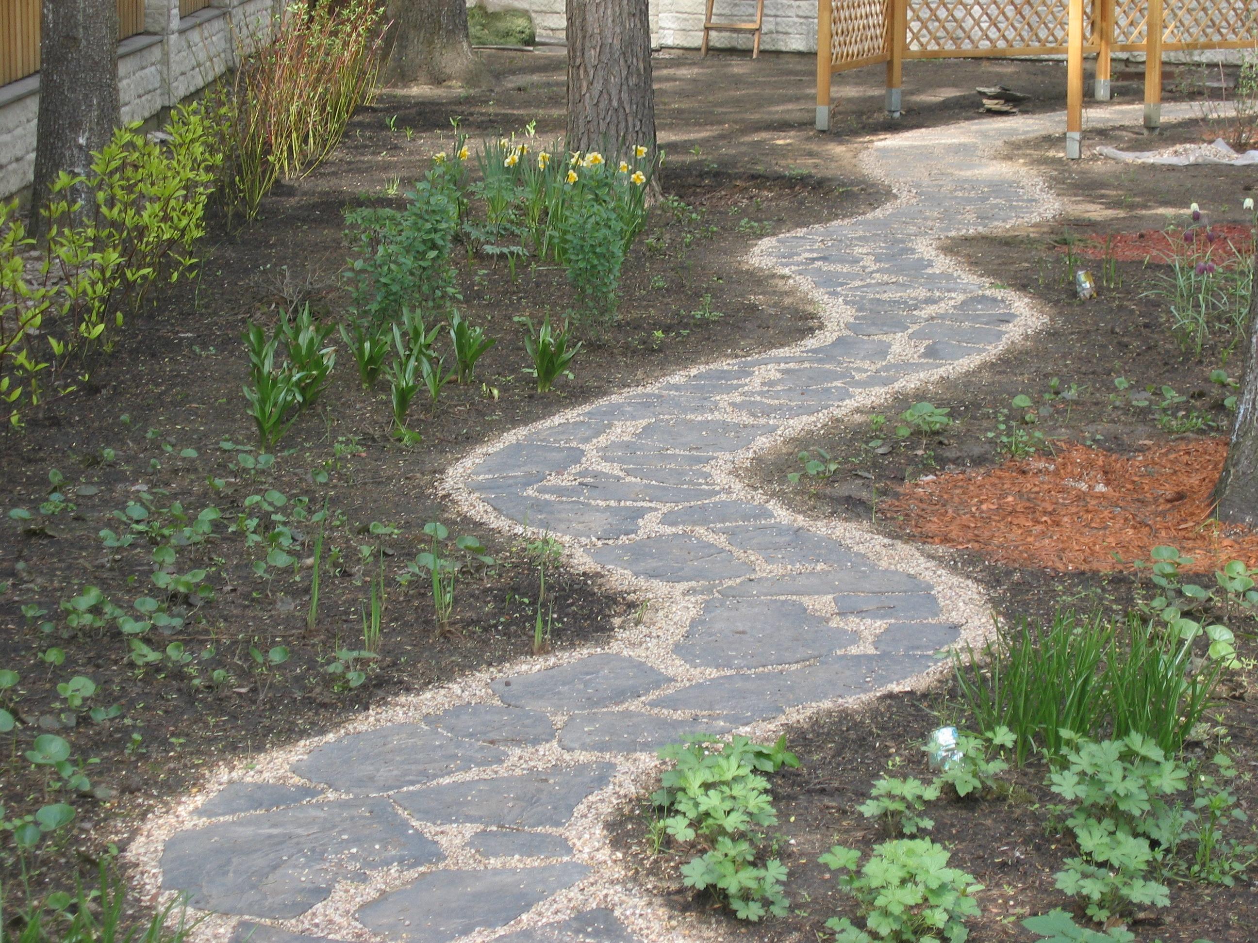извилистая садовая дорожка своими руками