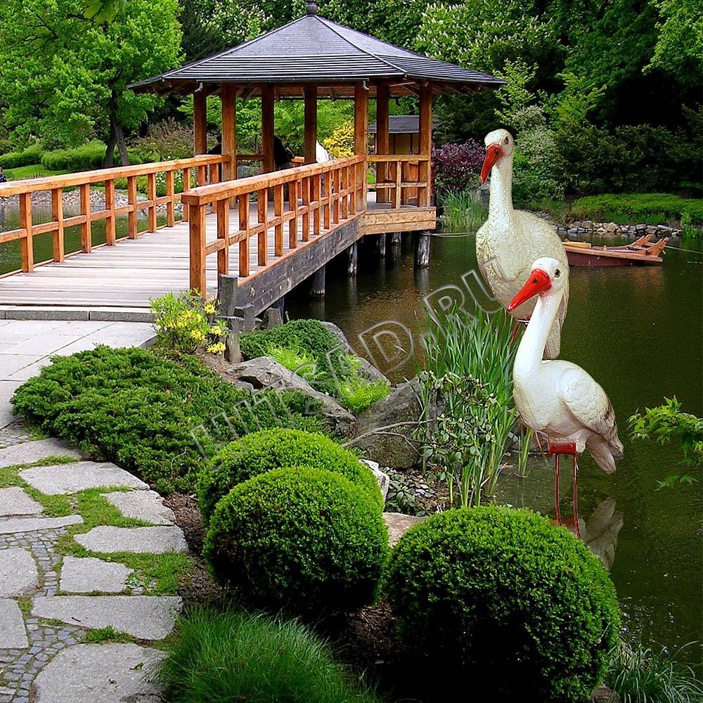 садовые фигуры для украшения пруда недорого