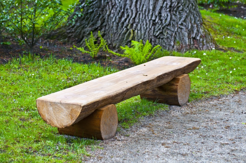 садовый декор своими руками скамейка