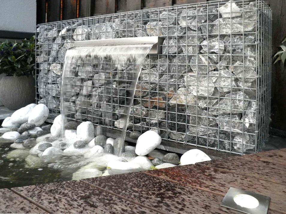 габионы водопад