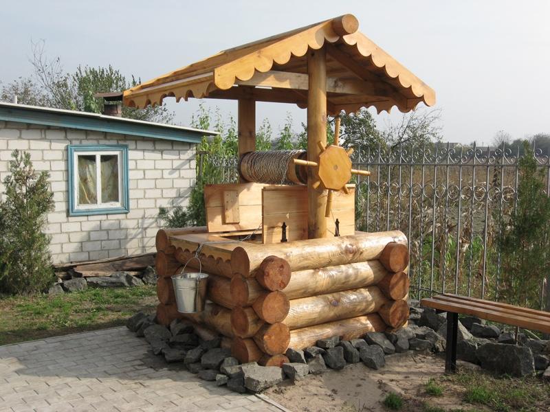 садовый декор своими руками колодец