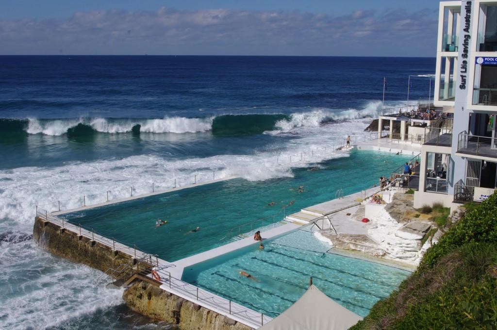 Сидней пляж Бонди бассейн