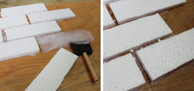имитация кирпичной кладки из пенопласта своими руками