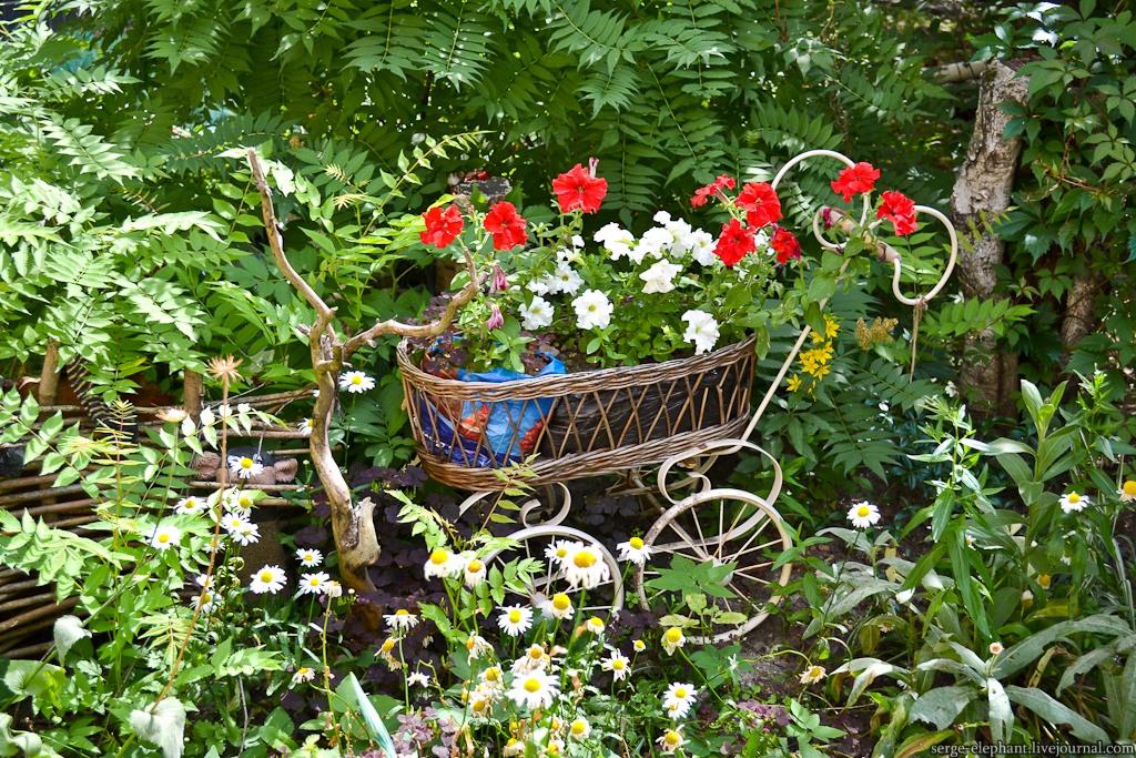 зеленый сад своими руками тележка для цветов