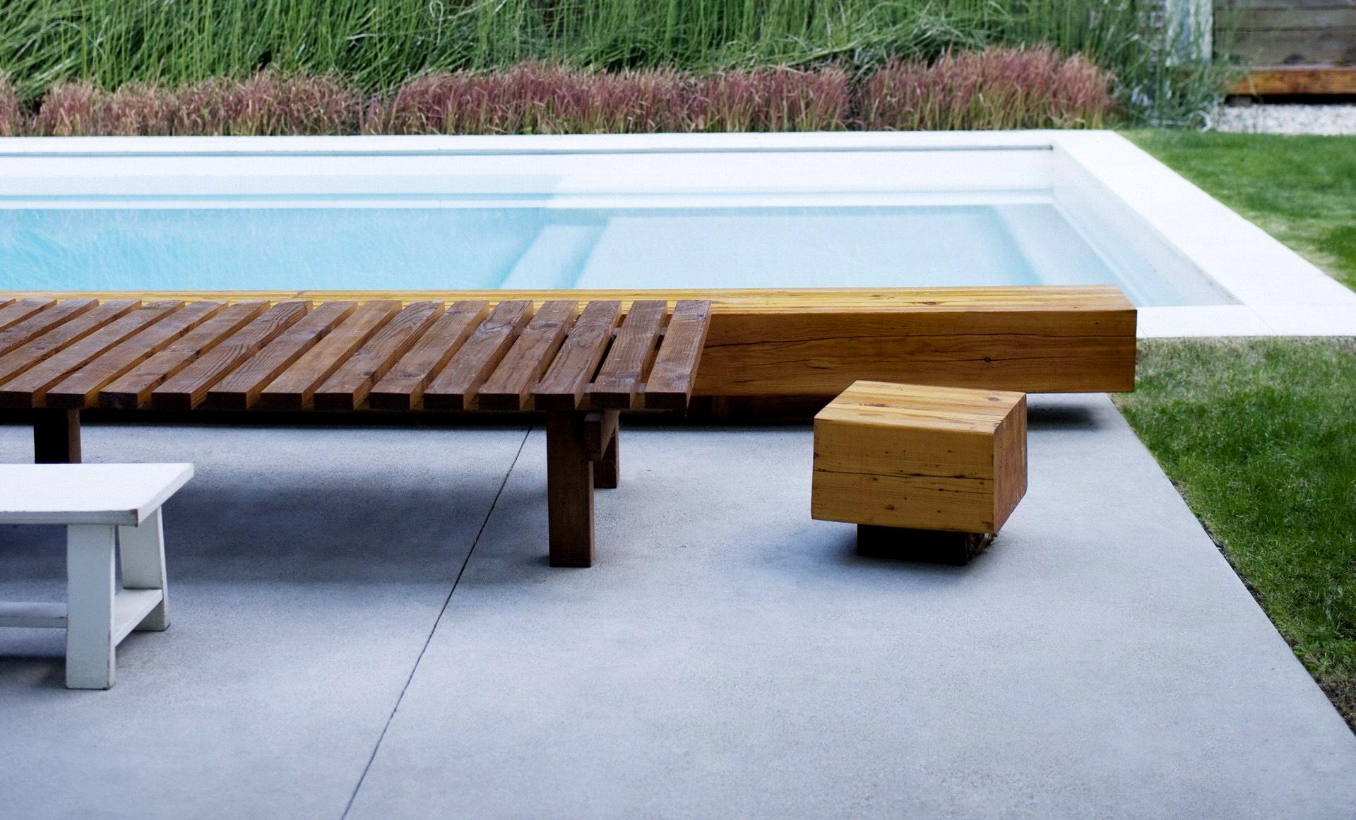 скамейки для бассейна