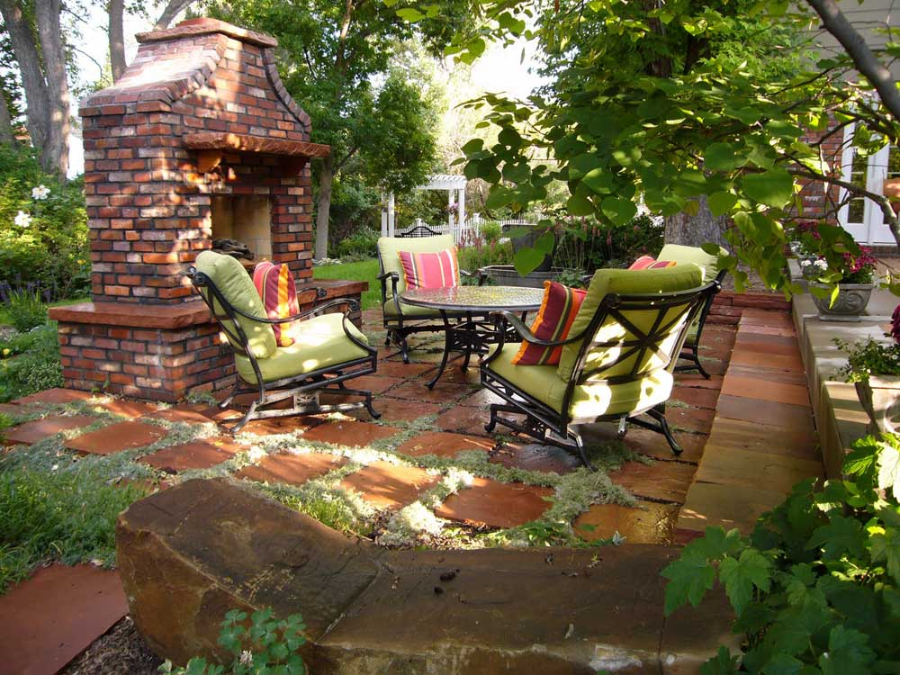 место для отдыха в саду своими руками