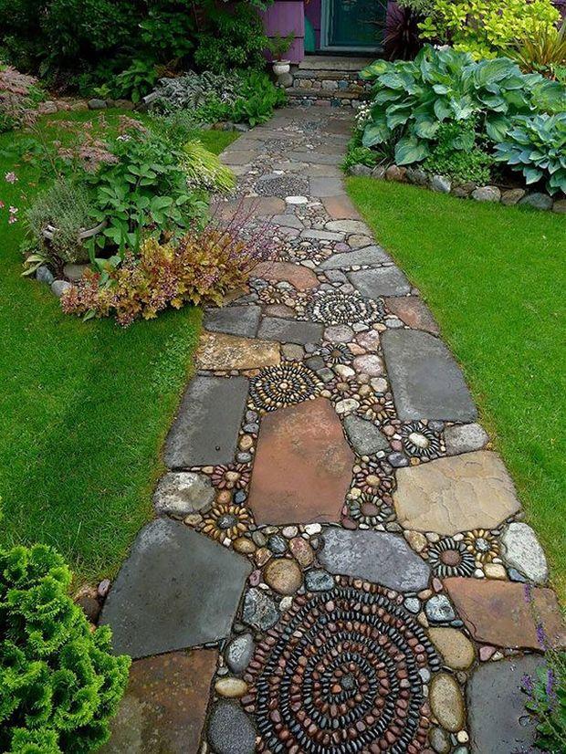 Идеи для сада из камней