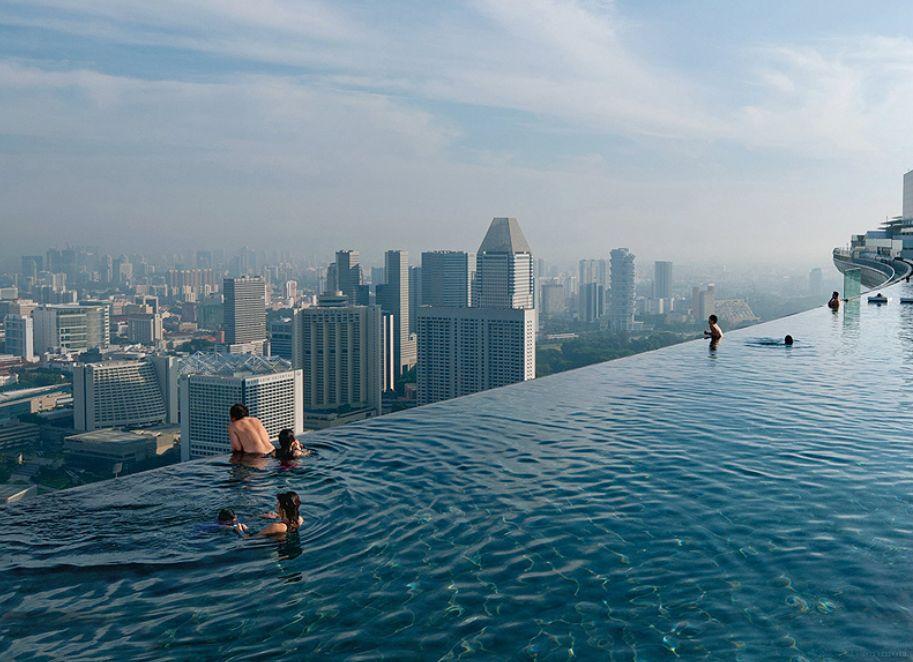 Сингапур бассейн крыша казино бесконечный бассейн