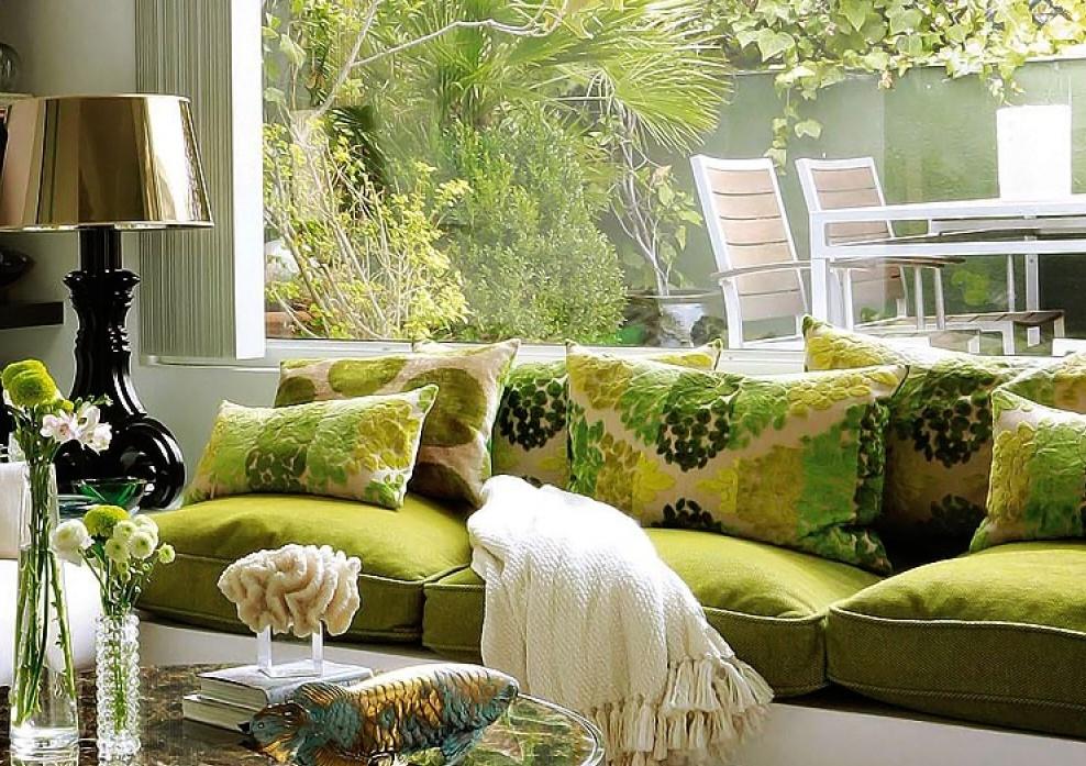 дизайн интерьера оливковые цвета