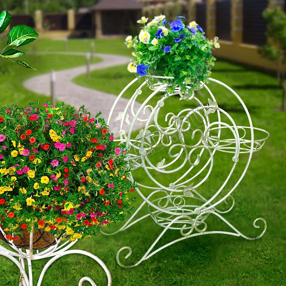 кованые подставки для цветов и цветочных горшков