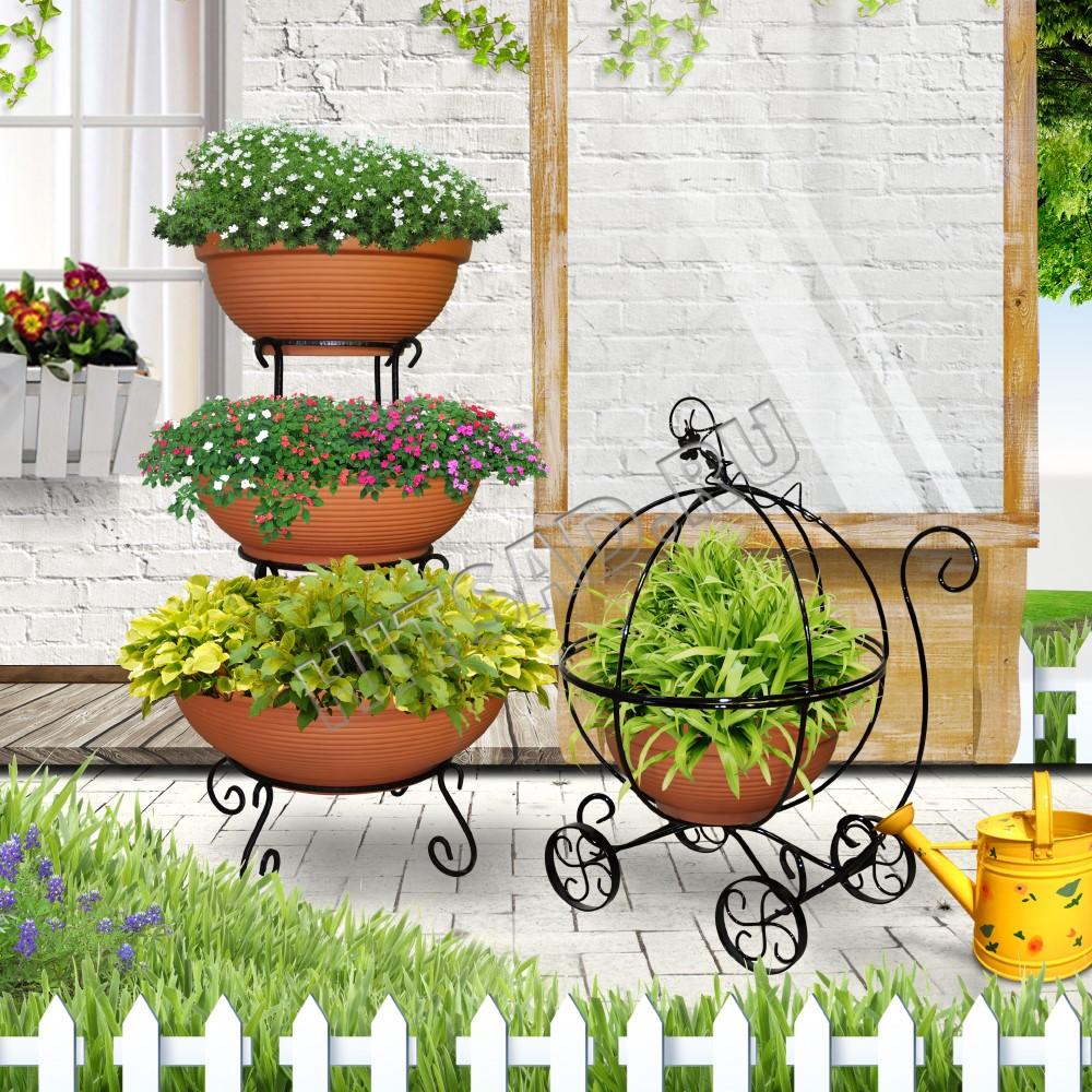 кованые подставки для цветочных горшков