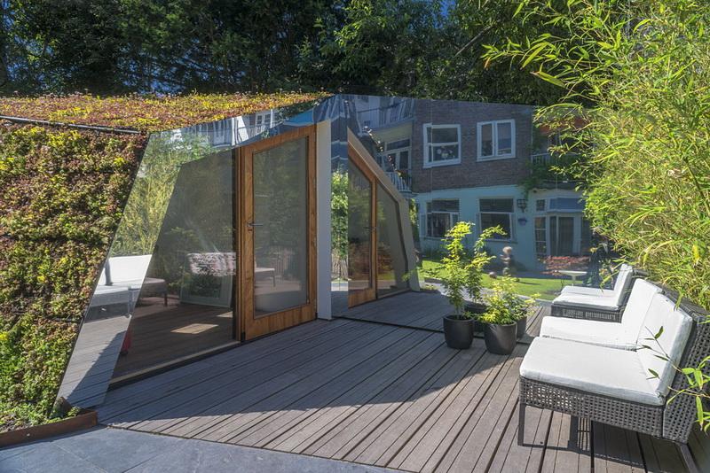 акрил, зеркальный акрил, зеркало, дизайн дачи, дизайн сада, ландшафтный дизайн