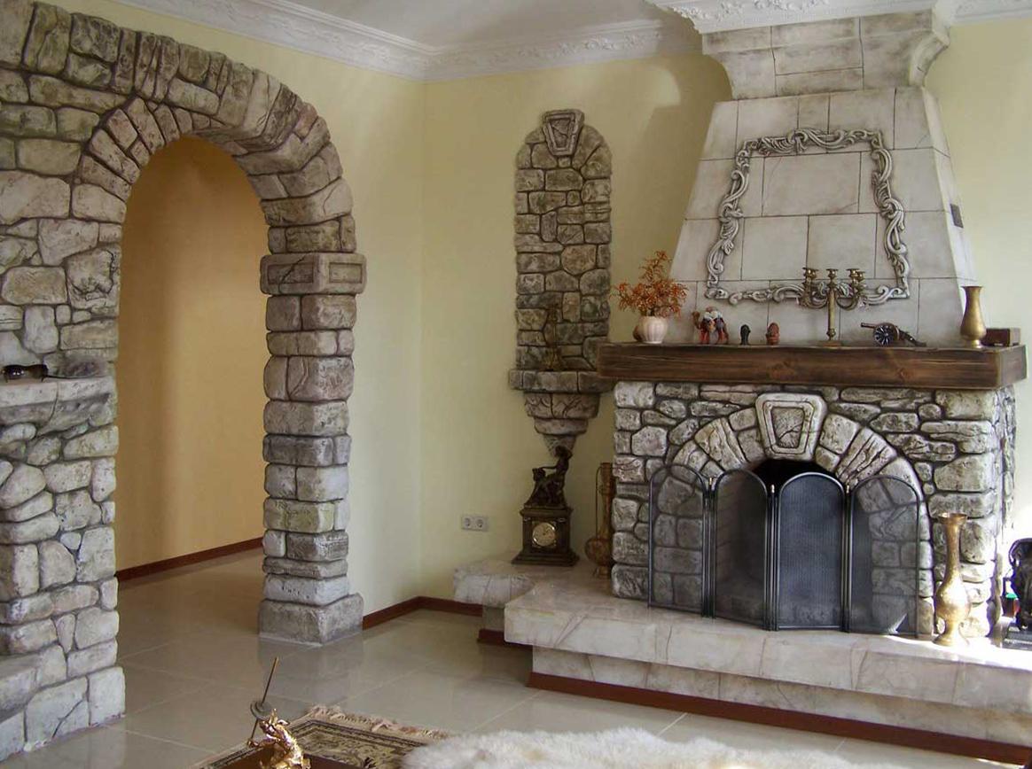 Отделка арки декоративным камнем своими руками
