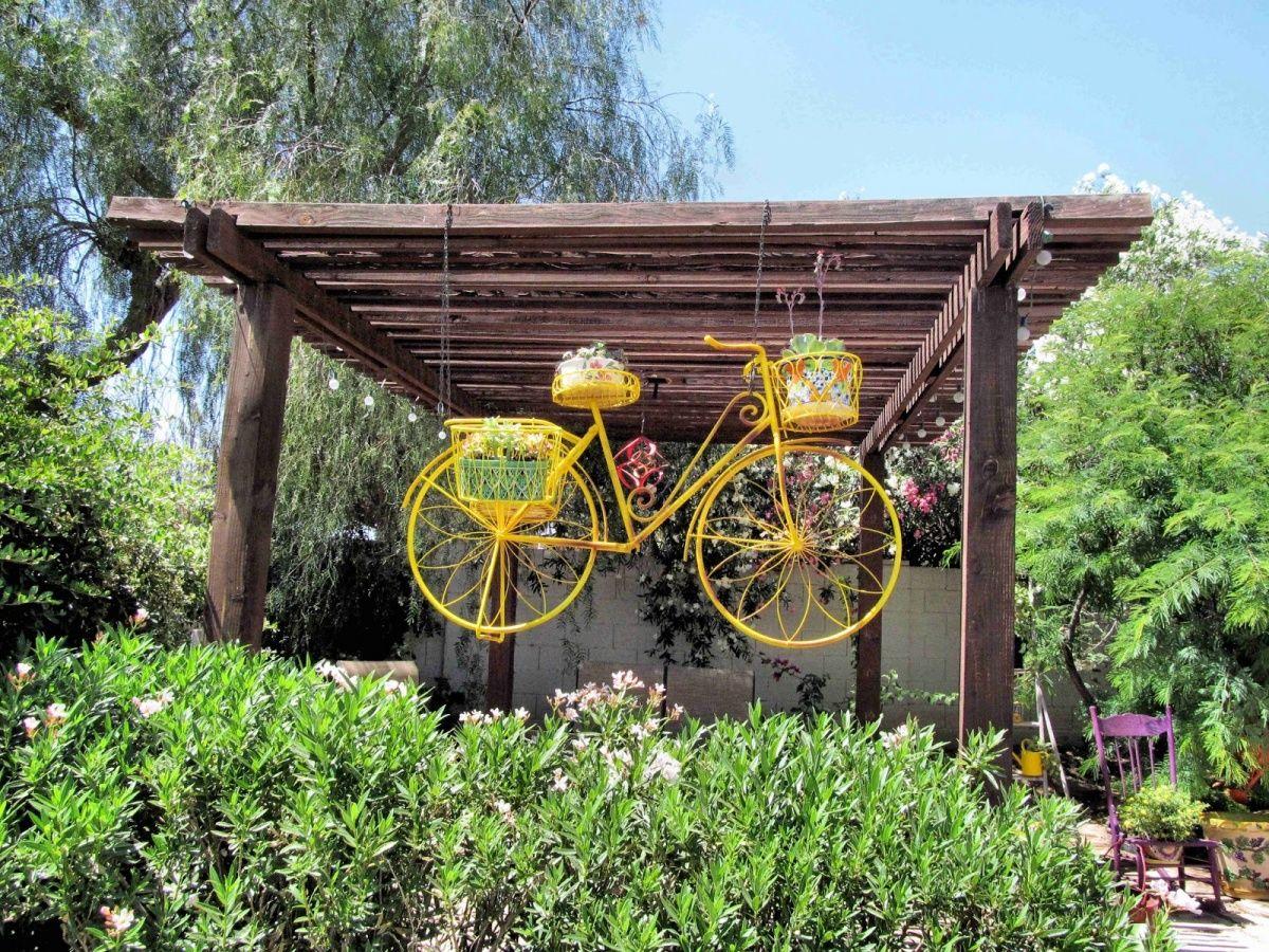 подставки для цветов старый велосипед