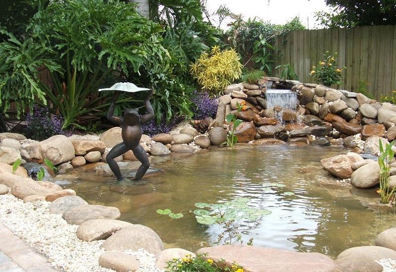 фогура для сада, фигура для пруда, садовый дизайн, дизайн дачи