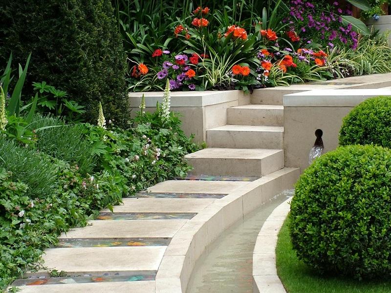 силь модер, оформление сада, дизайн сада,