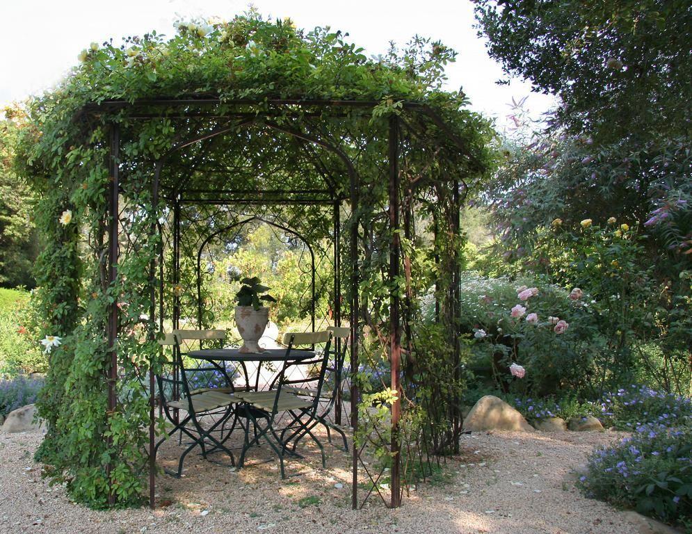 металлическая беседка для сада