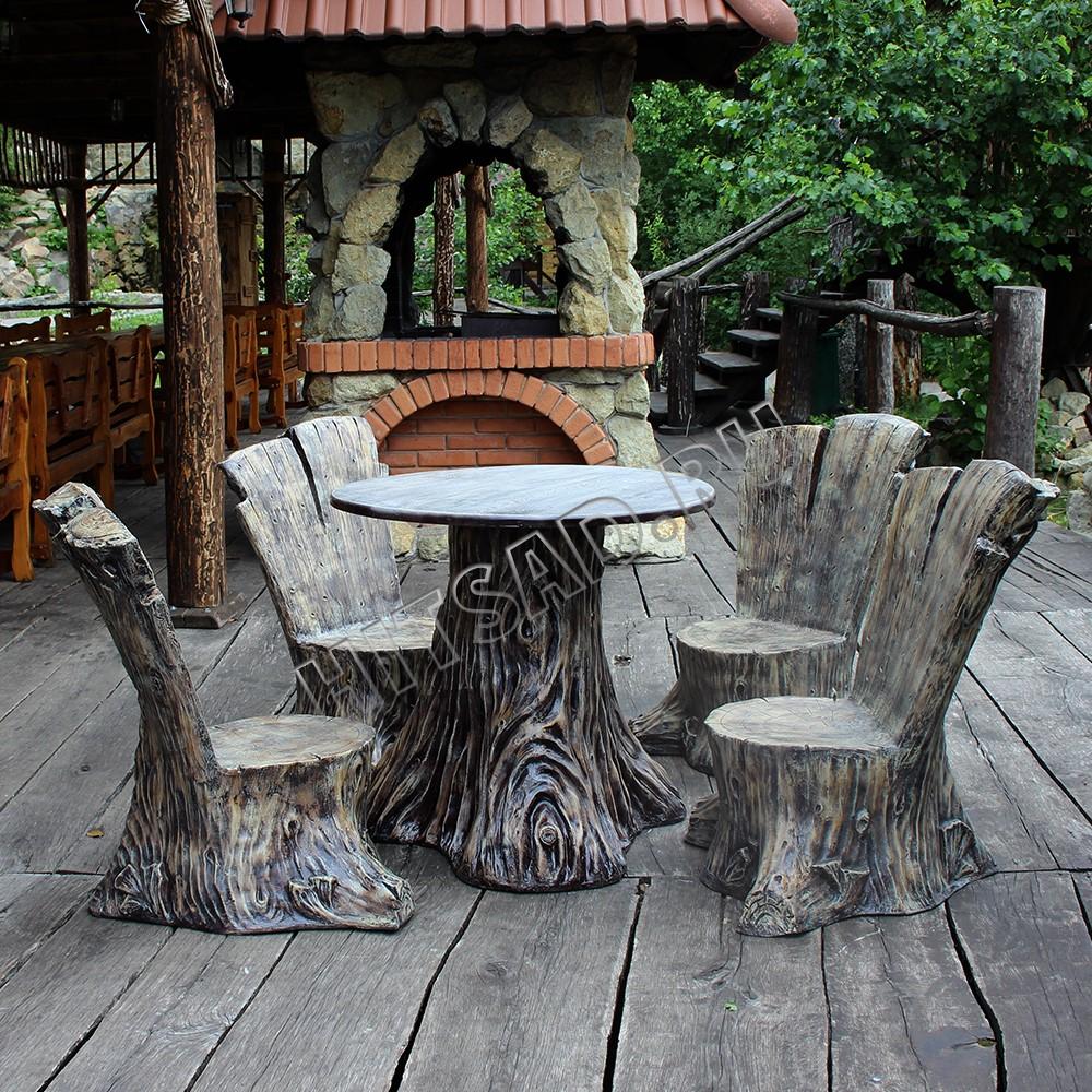 мебель в виде пеньков садовая мебель комплект недорого