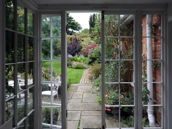 Магнолия Хаус красивый сад Англия цветник миксбордер садовая дорожка