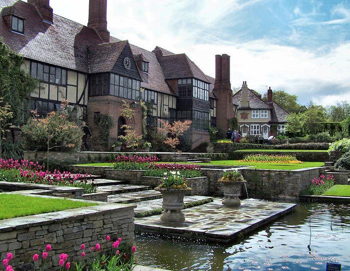 красивый сад сады Уизли Англия пруд