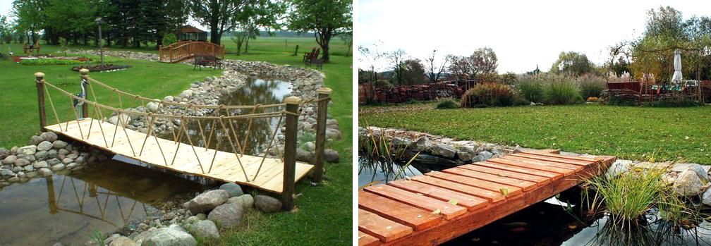 деревянные мостики через ручей своими руками
