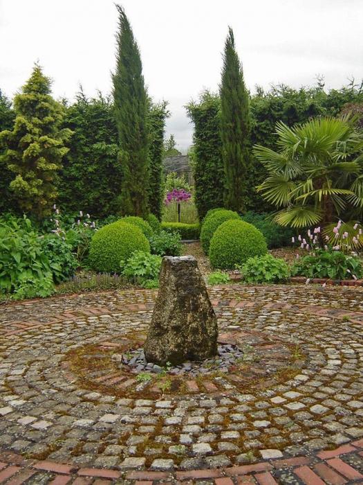 сады Бартон Хаус Англия Barton House красивый сад садовая дорожка миксбордер