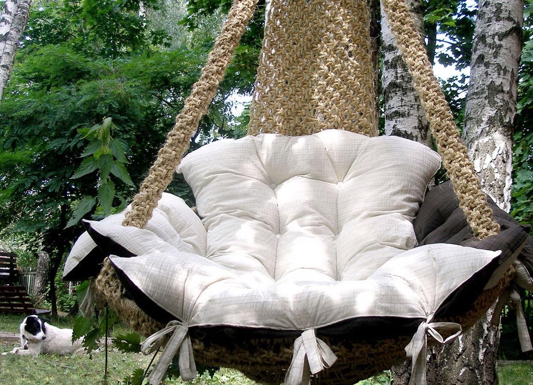 подвесной плетеный гамак