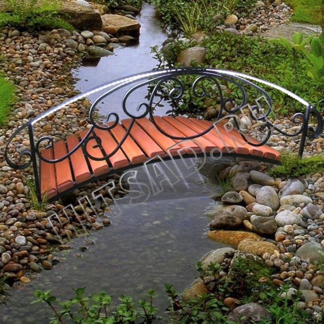 декоративный мостик с подсветкой для сада