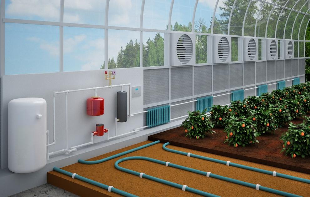Отопление для теплиц из поликарбоната своими руками