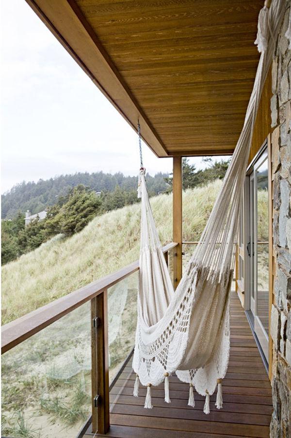 подвесной гамак для балкона своими руками